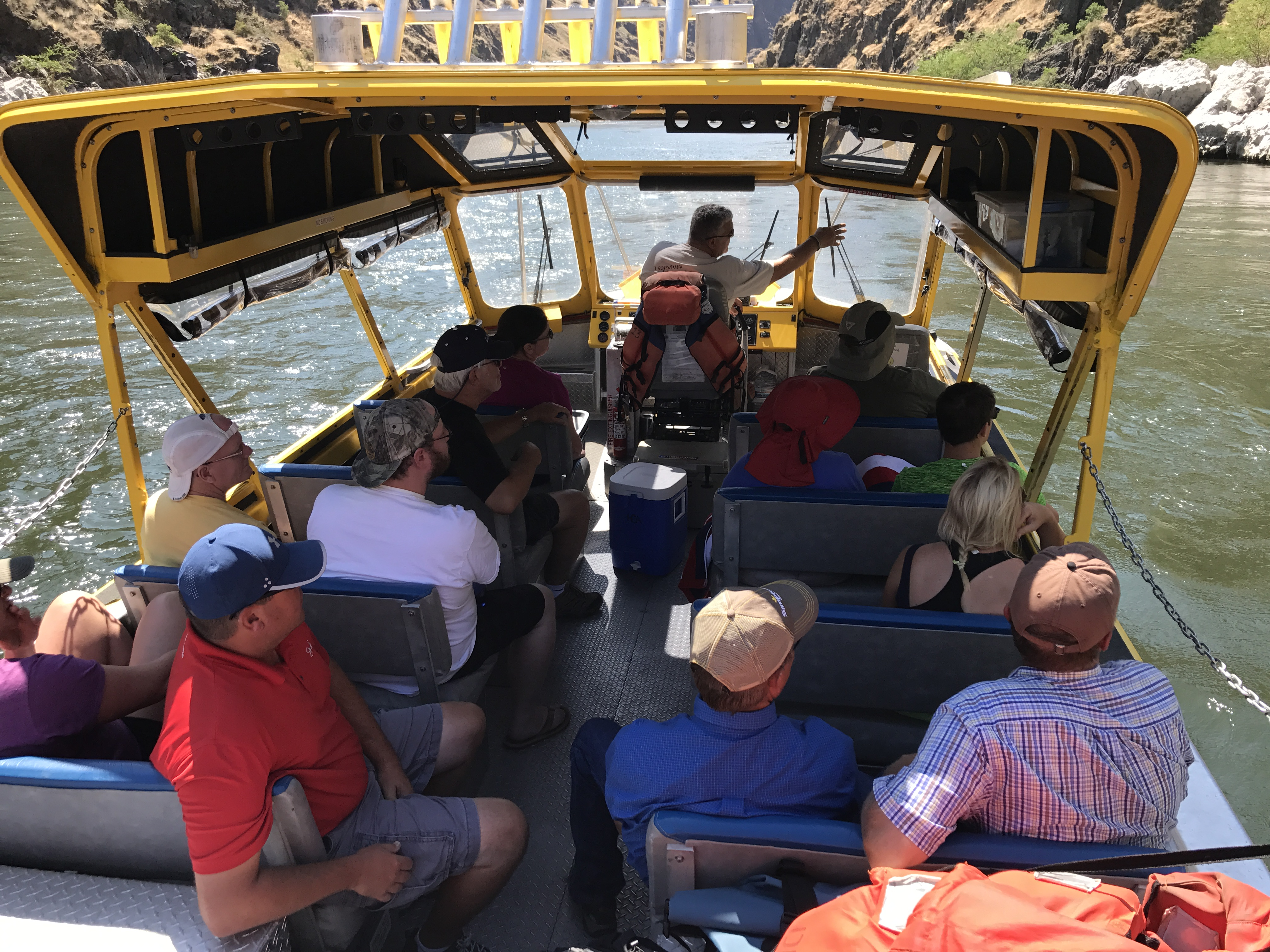 Jet boat trips offer the opportunity to travel upriver or downriver as needed to your destination.